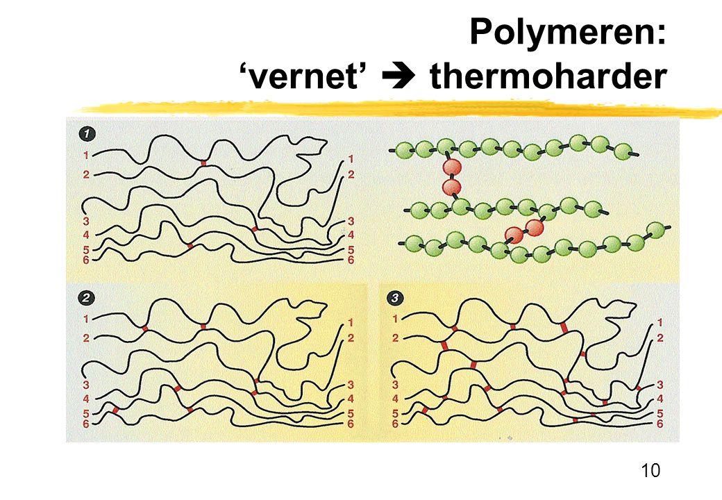 10 Polymeren: 'vernet'  thermoharder