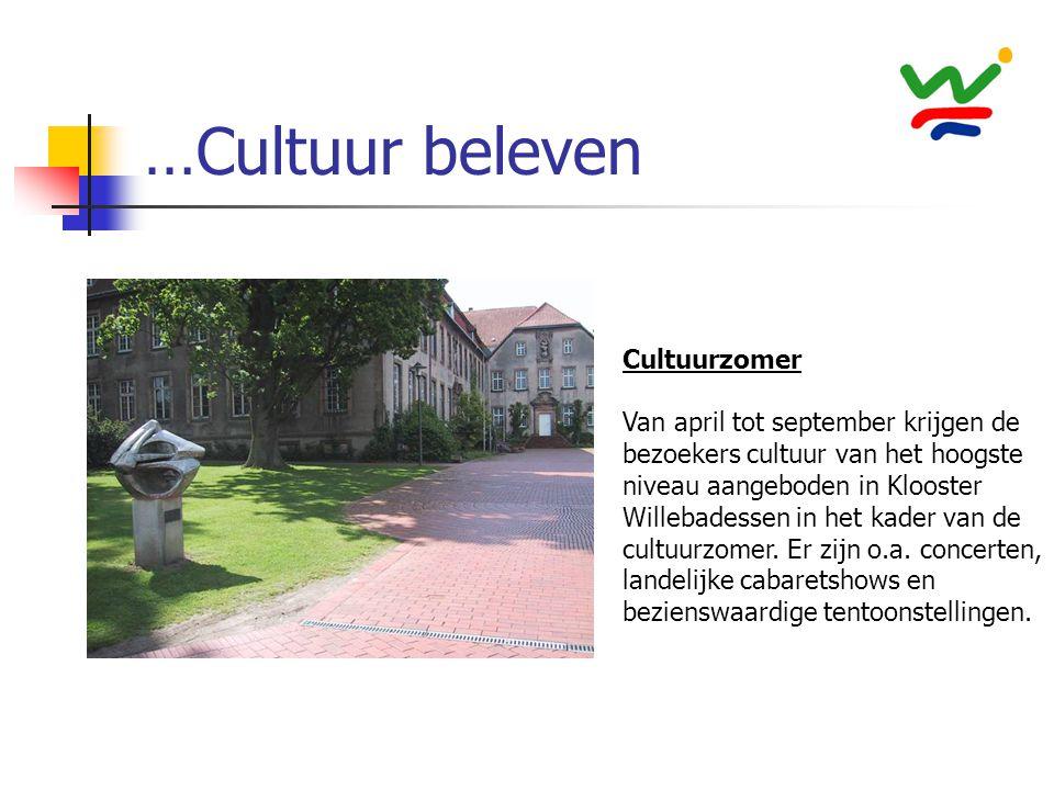 …Cultuur beleven Cultuurzomer Van april tot september krijgen de bezoekers cultuur van het hoogste niveau aangeboden in Klooster Willebadessen in het