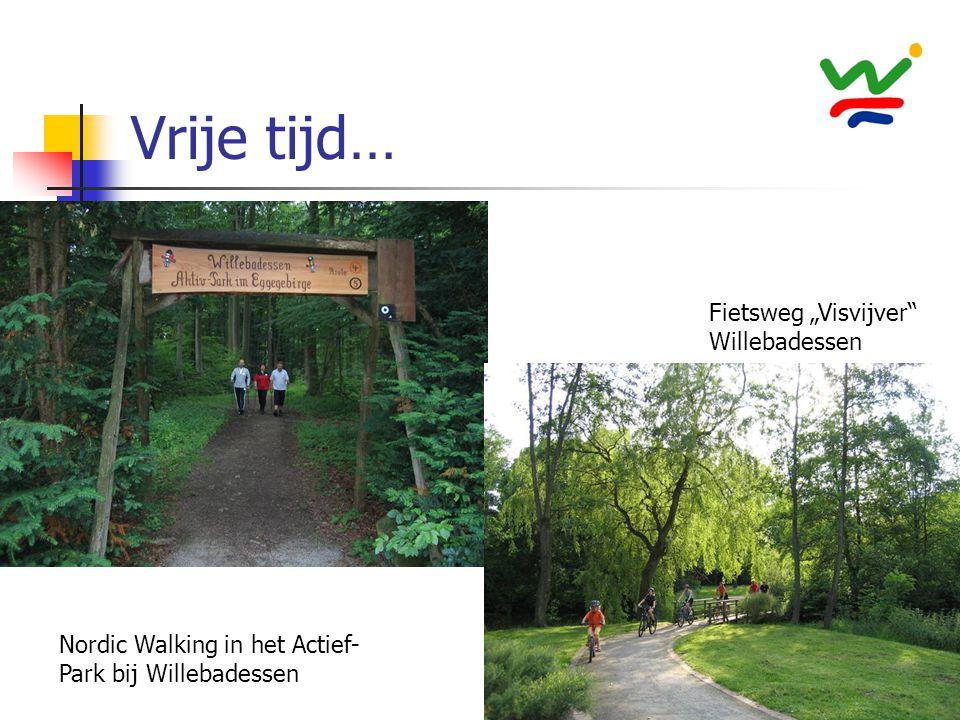 """Vrije tijd… Fietsweg """"Visvijver"""" Willebadessen Nordic Walking in het Actief- Park bij Willebadessen"""