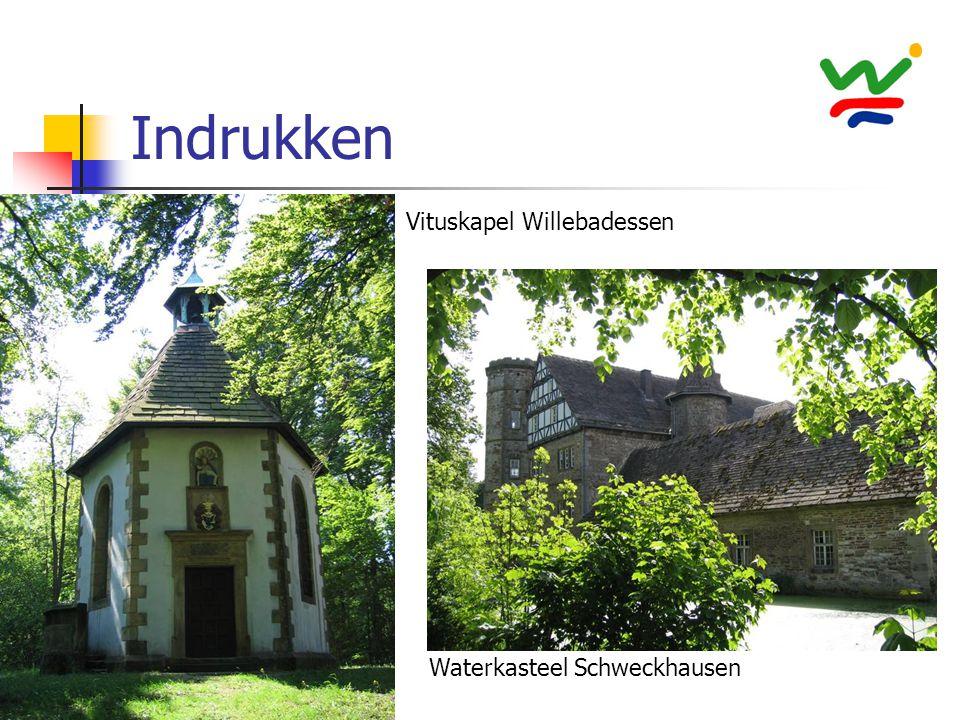 Indrukken Vituskapel Willebadessen Waterkasteel Schweckhausen