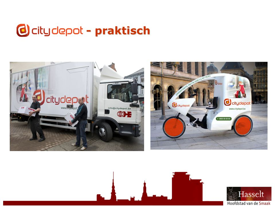 © 2011 Stad Hasselt CityDepot - praktisch