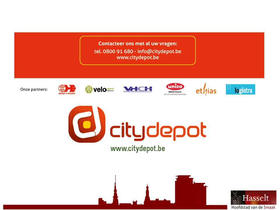 © 2011 Stad Hasselt Vanaf vandaag in Hasselt Groen nummer : 0800 91 680 www.citydepot.be