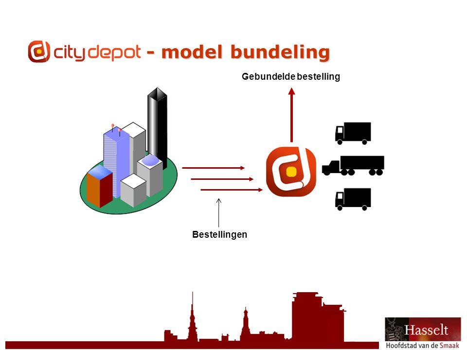© 2011 Stad Hasselt CityDepot - model bundeling Bestellingen Gebundelde bestelling