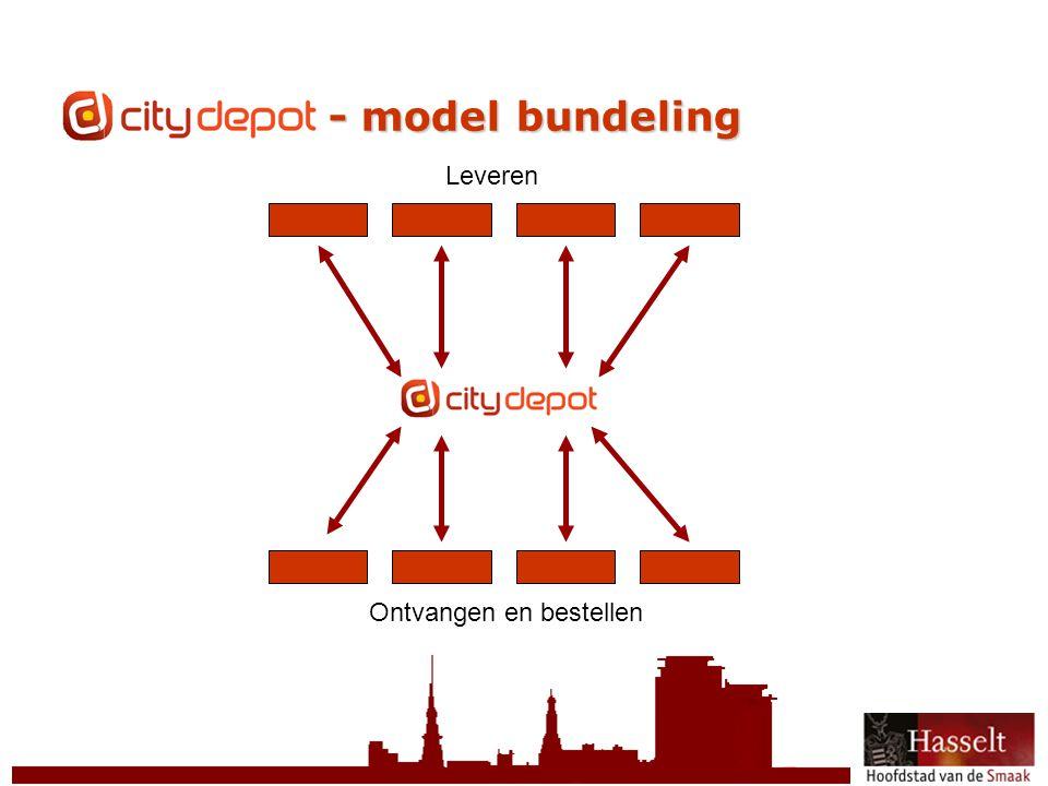 © 2011 Stad Hasselt CityDepot - model bundeling Ontvangen en bestellen Leveren