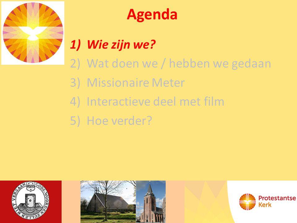 Agenda 1)Wie zijn we.Ds. G.