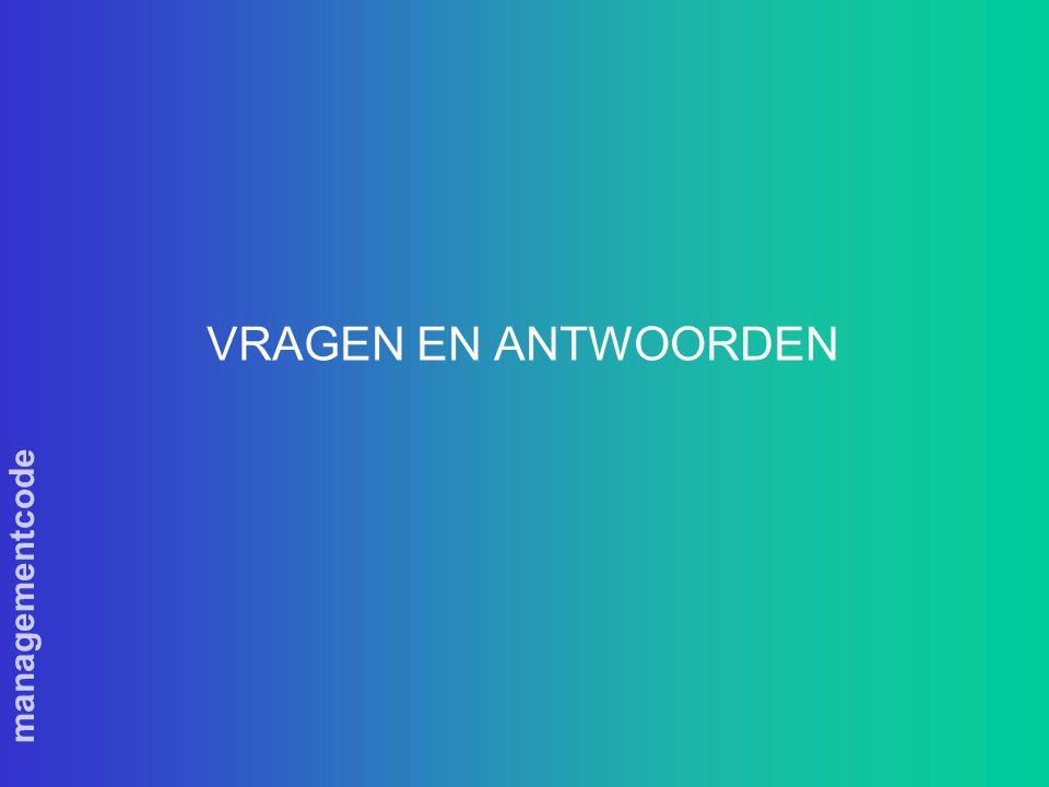 managementcode VRAGEN EN ANTWOORDEN