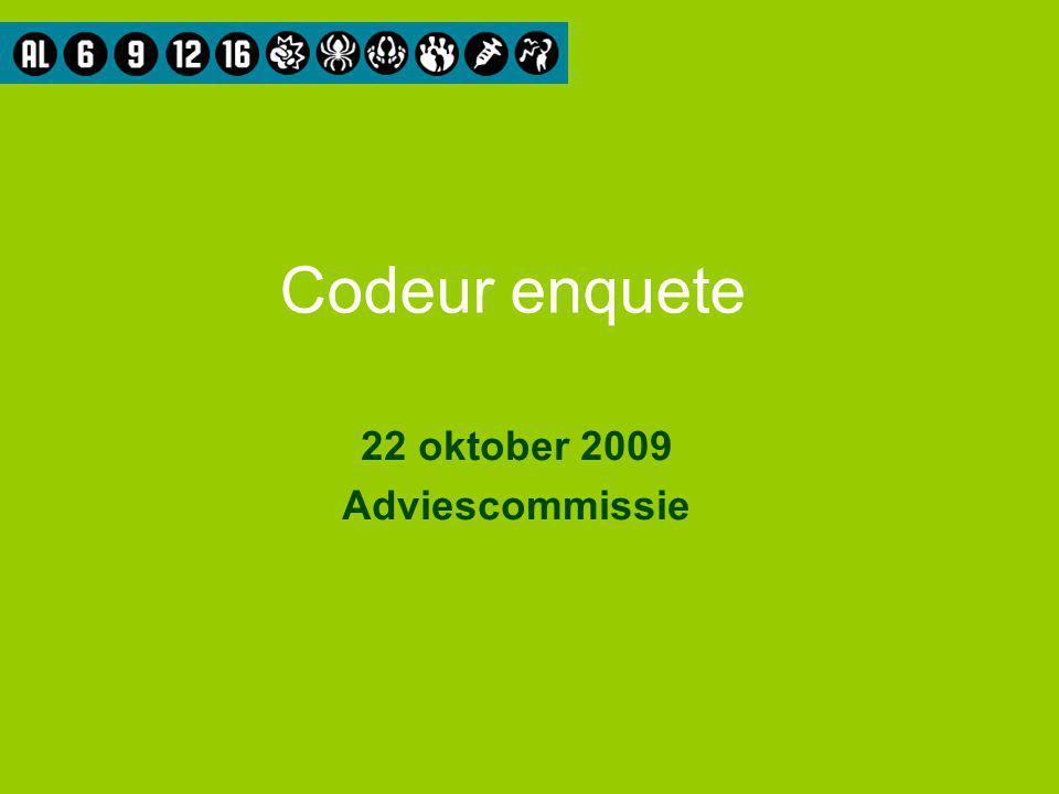 Codeur enquete 22 oktober 2009 Adviescommissie