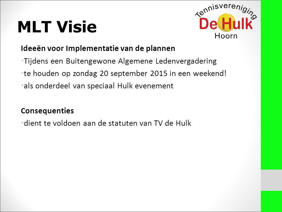 MLT Visie Ideeën voor Implementatie van de plannen Tijdens een Buitengewone Algemene Ledenvergadering te houden op zondag 20 september 2015 in een weekend.