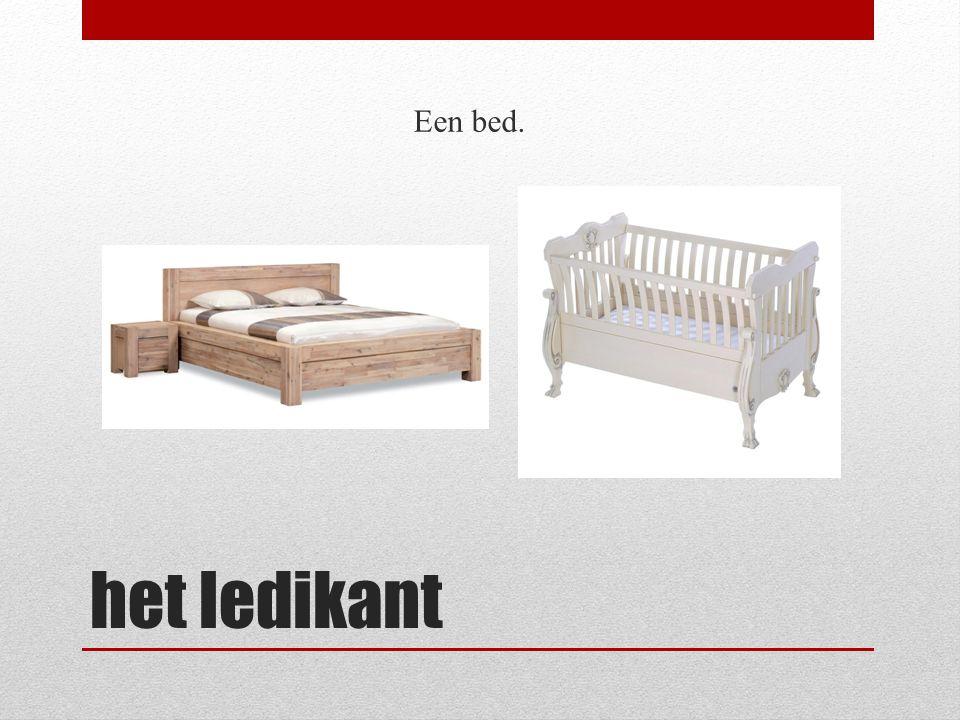 het ledikant Een bed.