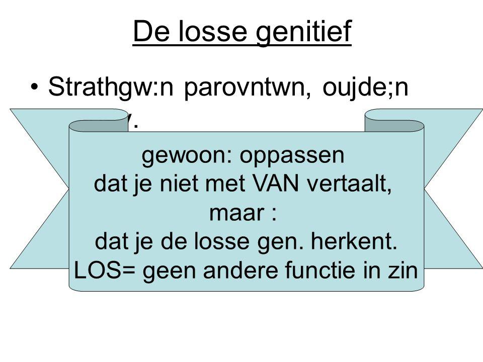 De losse genitief Strathgw:n parovntwn, oujde;n ejlegev. gewoon: oppassen dat je niet met VAN vertaalt, maar : dat je de losse gen. herkent. LOS= geen