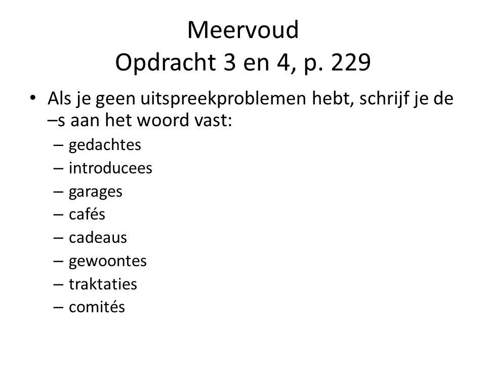 Meervoud Opdracht 3 en 4, p.