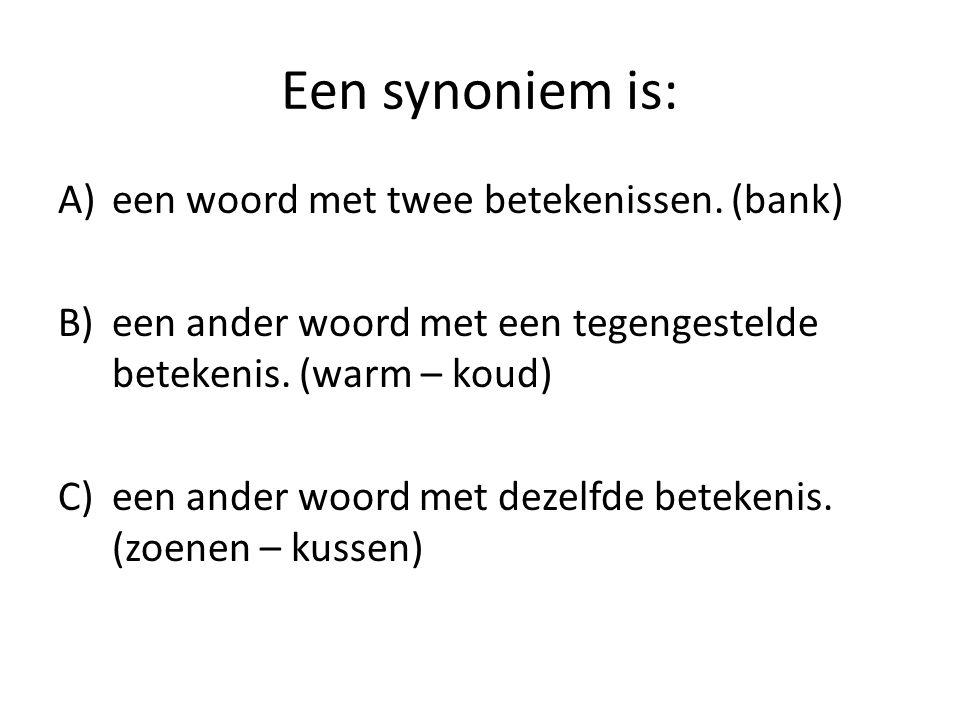 Synoniem betekenis