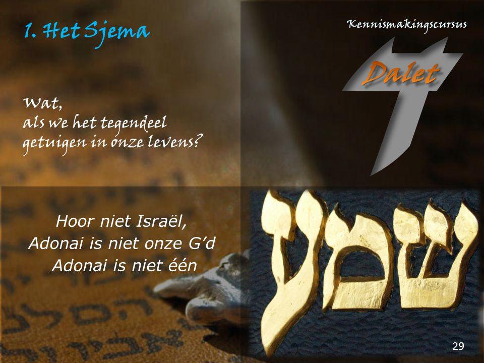 29 Hoor niet Israël, Adonai is niet onze G'd Adonai is niet één