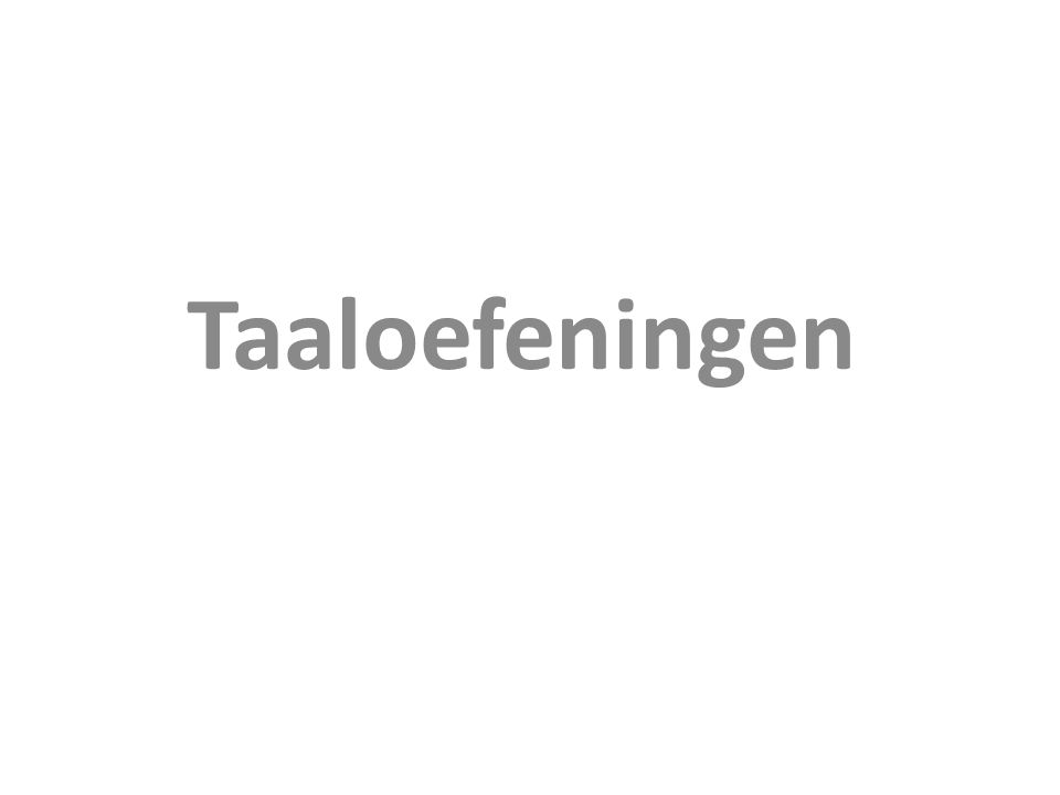 Taaloefeningen