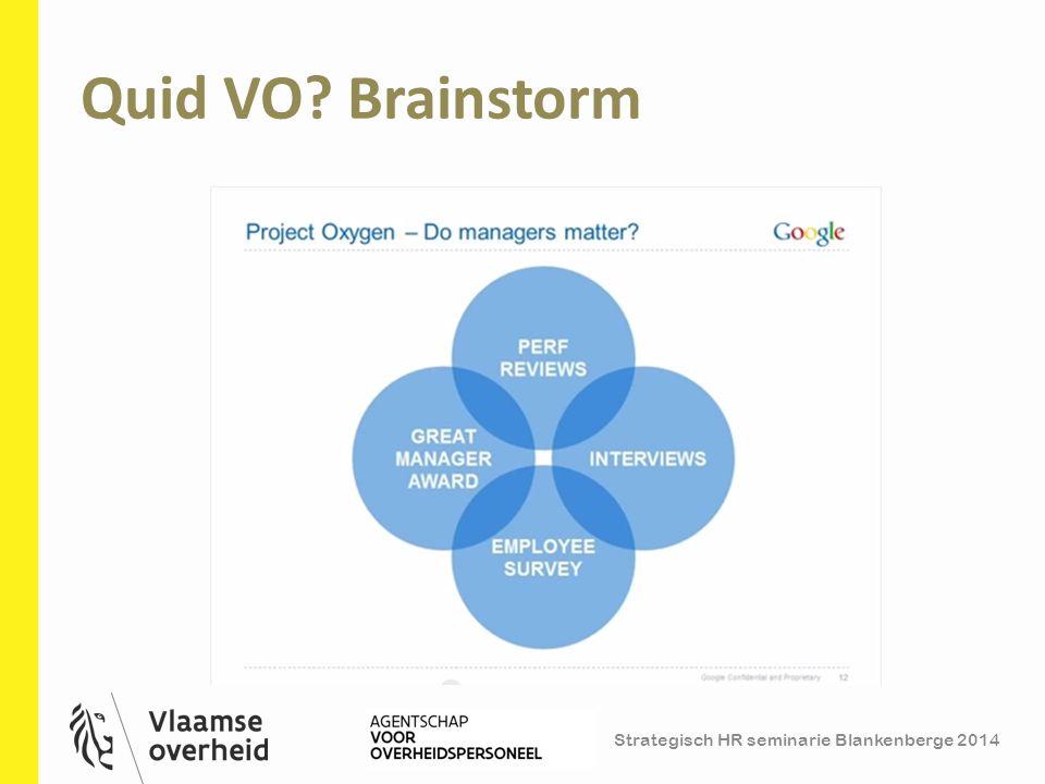 Strategisch HR seminarie Blankenberge 2014 Quid VO? Brainstorm 18