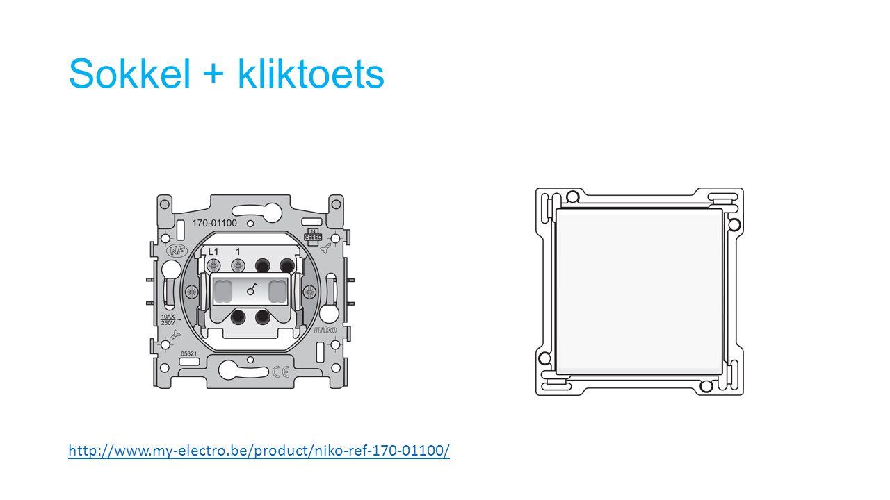 Sokkel + kliktoets http://www.my-electro.be/product/niko-ref-170-01100/