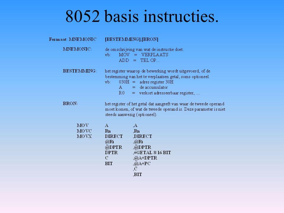 8052 basis instructies.