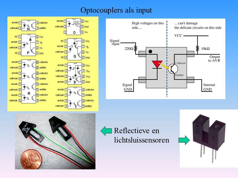 Optocouplers als input Reflectieve en lichtsluissensoren