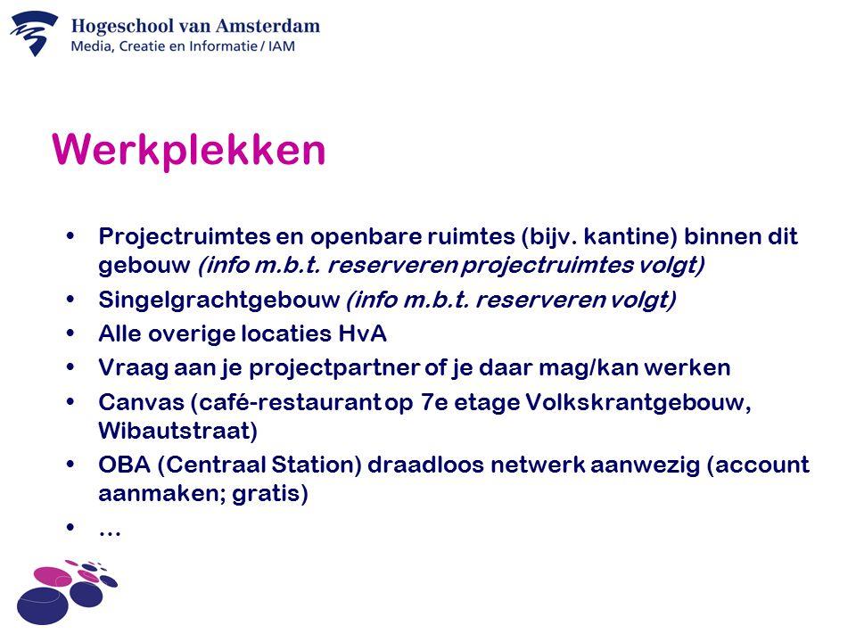 Werkplekken Projectruimtes en openbare ruimtes (bijv.