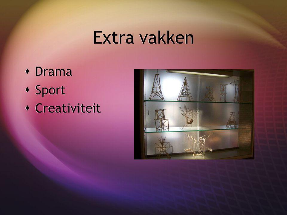 Extra vakken  Drama  Sport  Creativiteit  Drama  Sport  Creativiteit