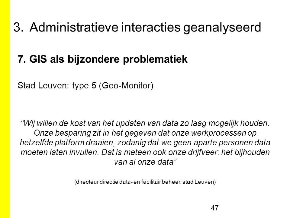 3.Administratieve interacties geanalyseerd 7.