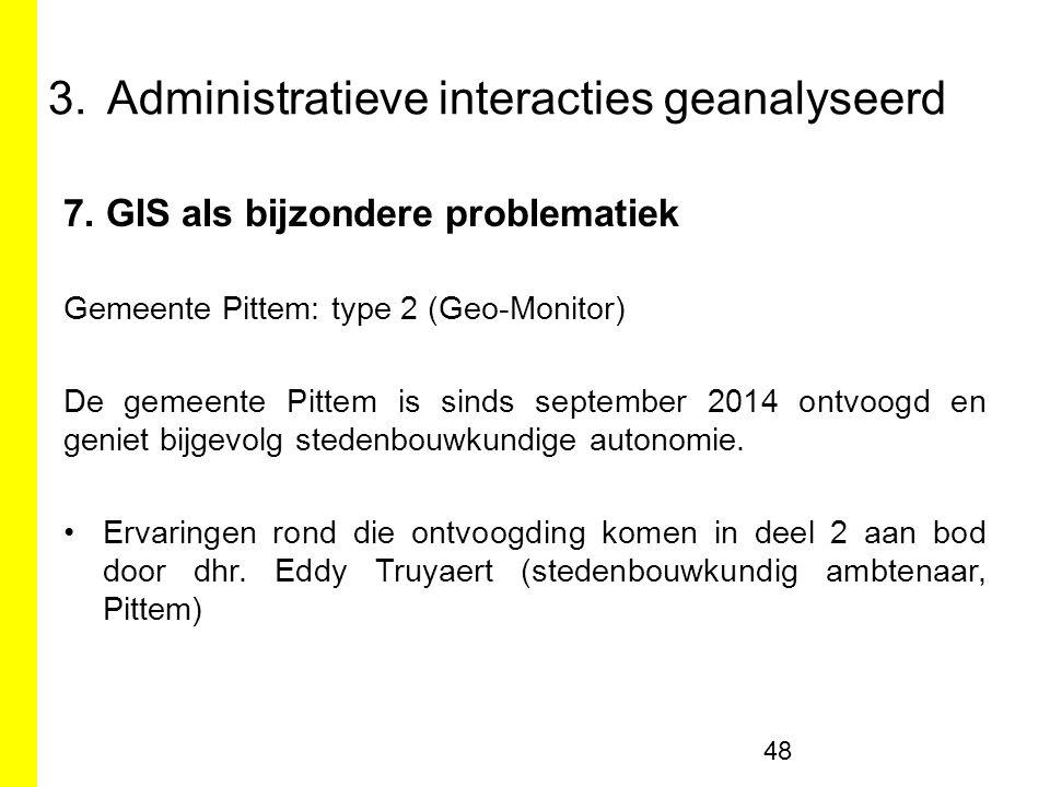 7. GIS als bijzondere problematiek Gemeente Pittem: type 2 (Geo-Monitor) De gemeente Pittem is sinds september 2014 ontvoogd en geniet bijgevolg stede