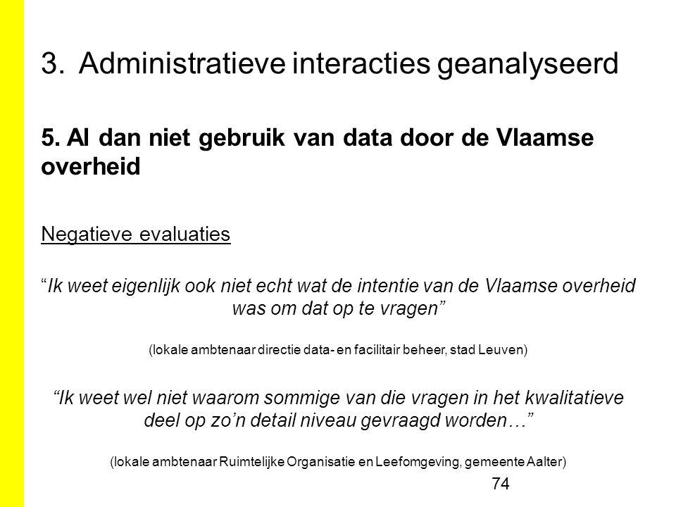 3.Administratieve interacties geanalyseerd 74 5.