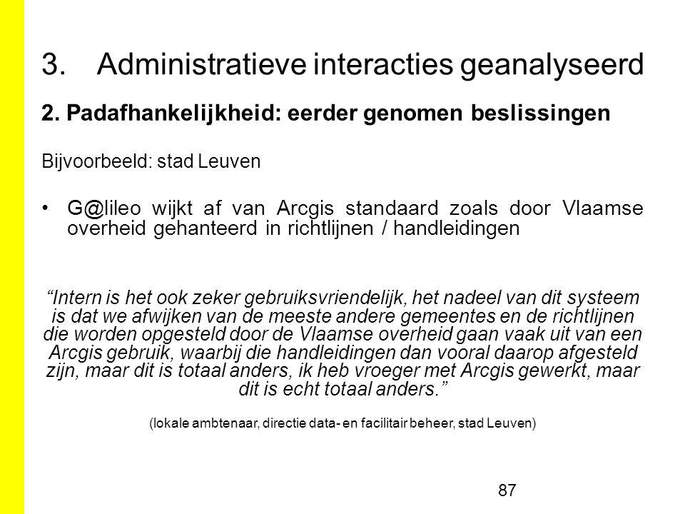 3.Administratieve interacties geanalyseerd 2.
