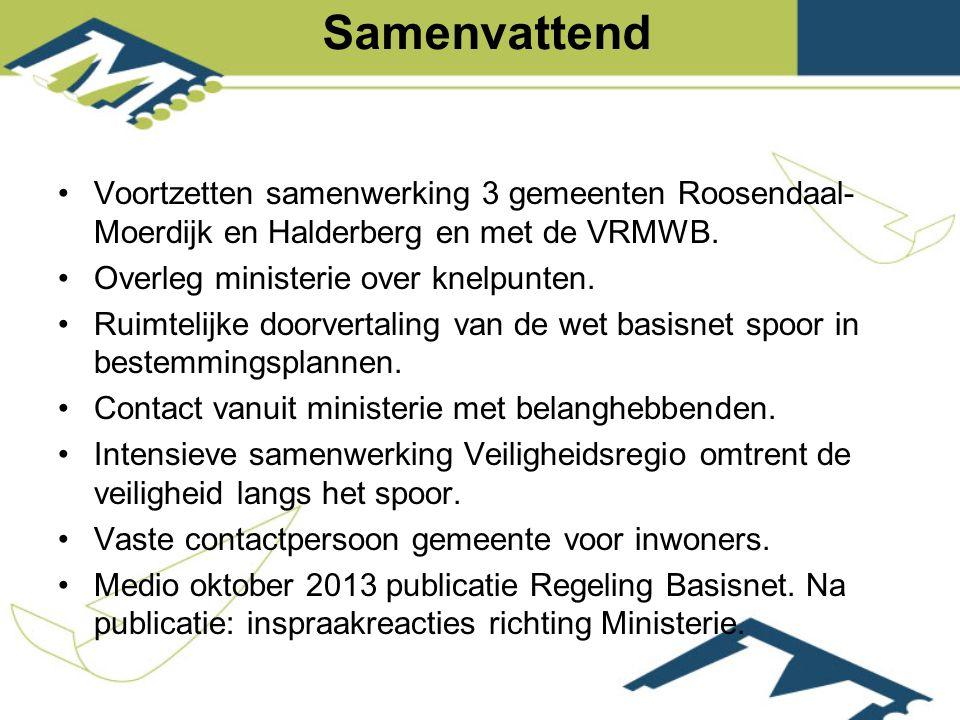 Voortzetten samenwerking 3 gemeenten Roosendaal- Moerdijk en Halderberg en met de VRMWB.