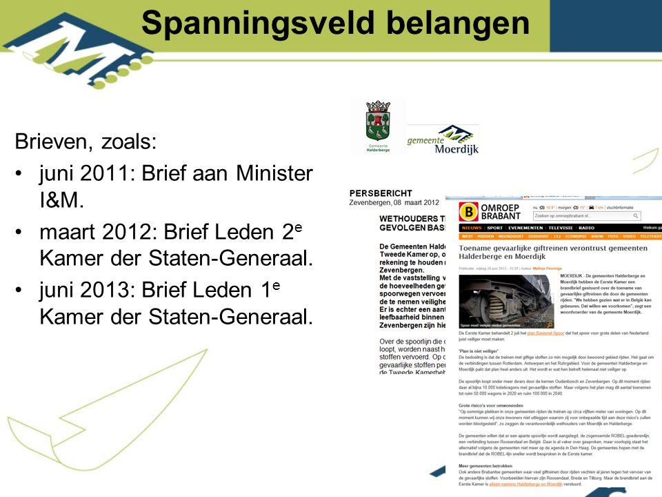 Brieven, zoals: juni 2011: Brief aan Minister I&M.