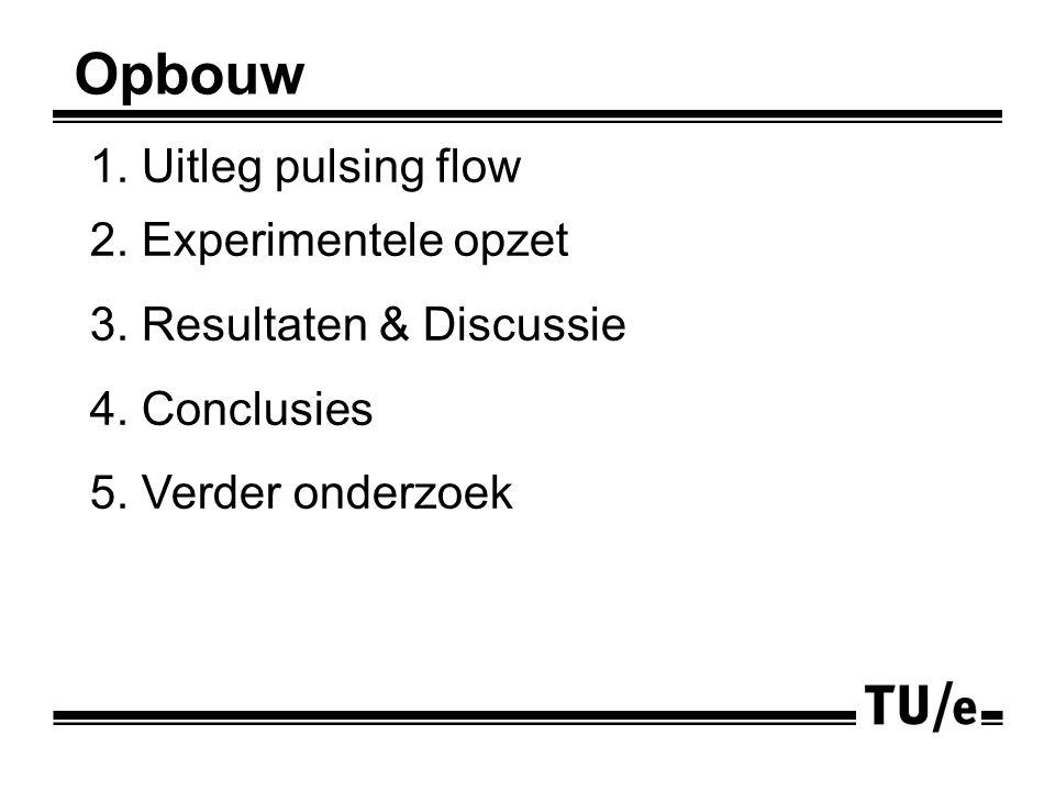 1. Uitleg pulsing flow 2. Experimentele opzet 3.