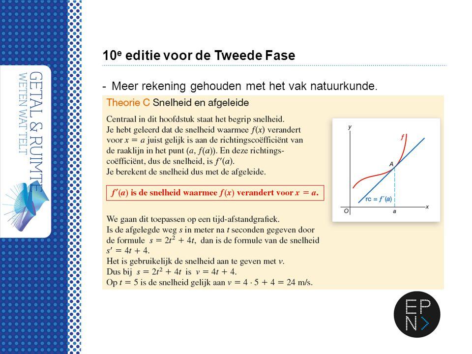 10 e editie voor de Tweede Fase -Meer rekening gehouden met het vak natuurkunde.