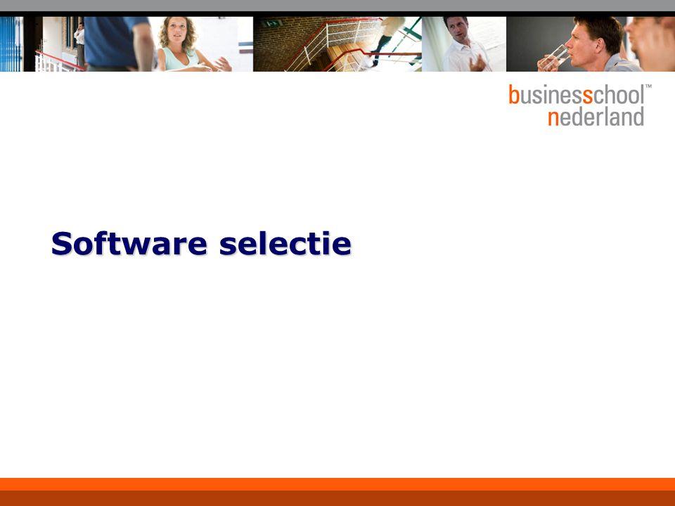 Software selectie