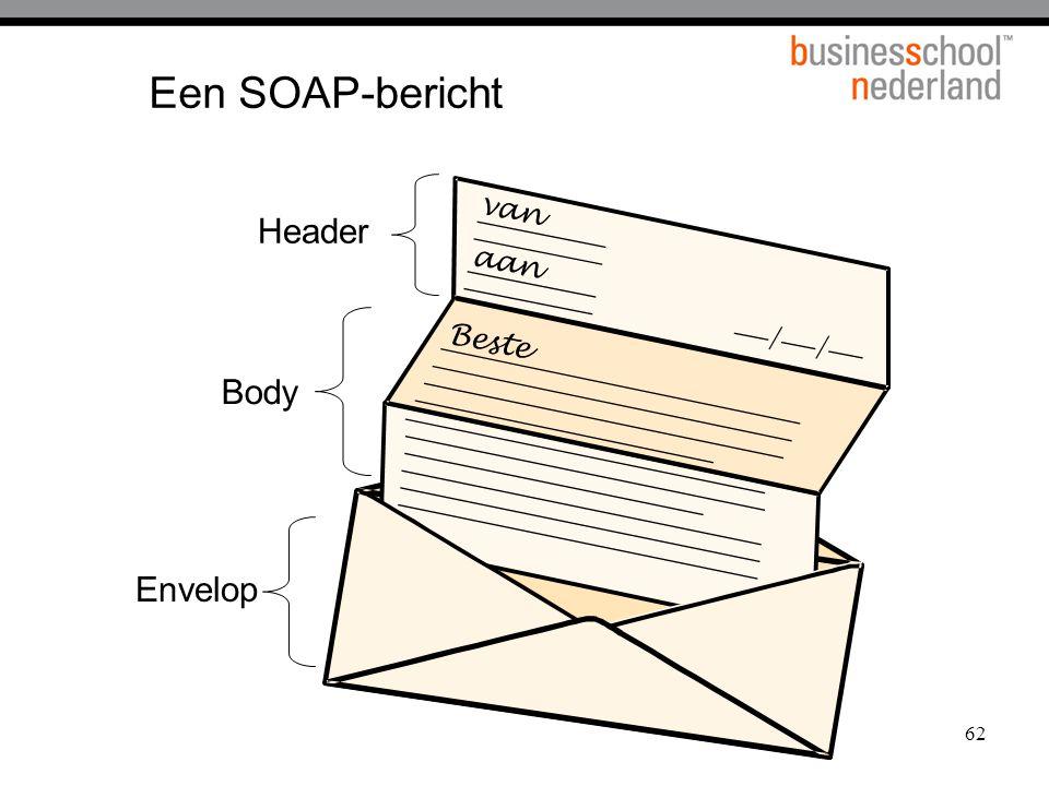 62 Een SOAP-bericht van aan / / Beste Header Body Envelop