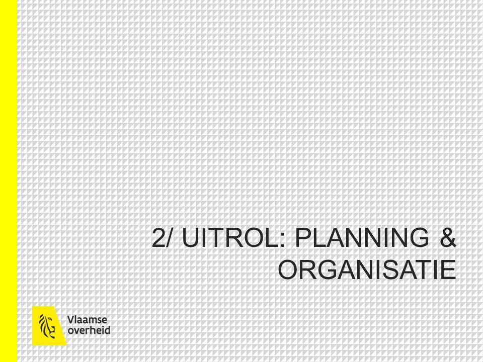 2/ UITROL: PLANNING & ORGANISATIE