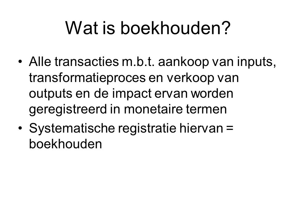 Wat is de jaarrekening.