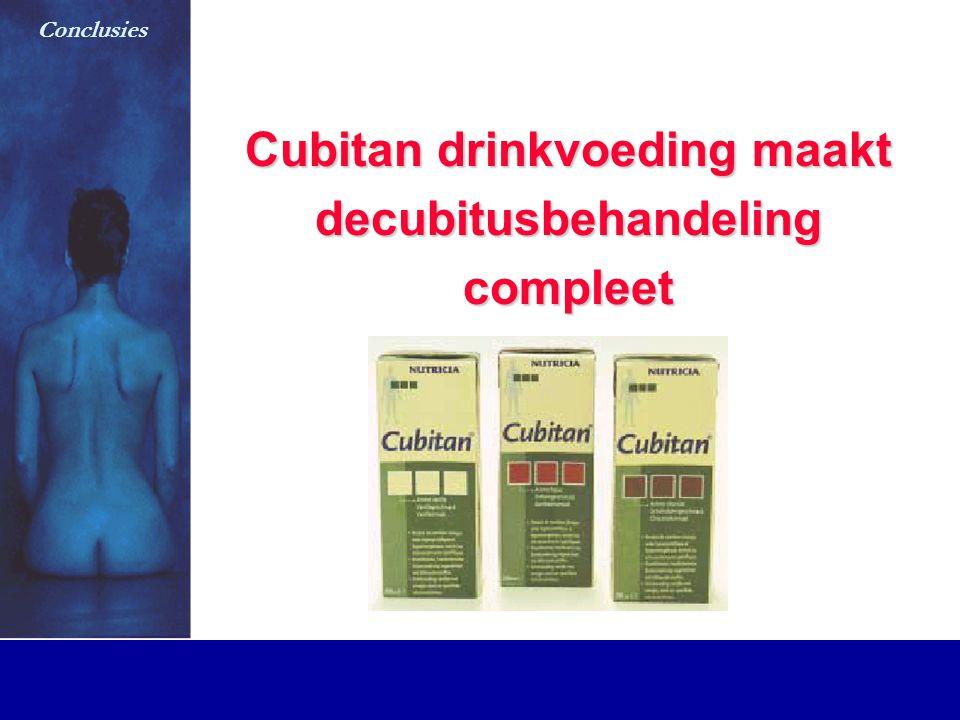 Cubitan drinkvoeding maakt decubitusbehandelingcompleet Conclusies