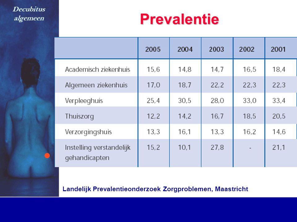 Prevalentie Decubitus algemeen Landelijk Prevalentieonderzoek Zorgproblemen, Maastricht