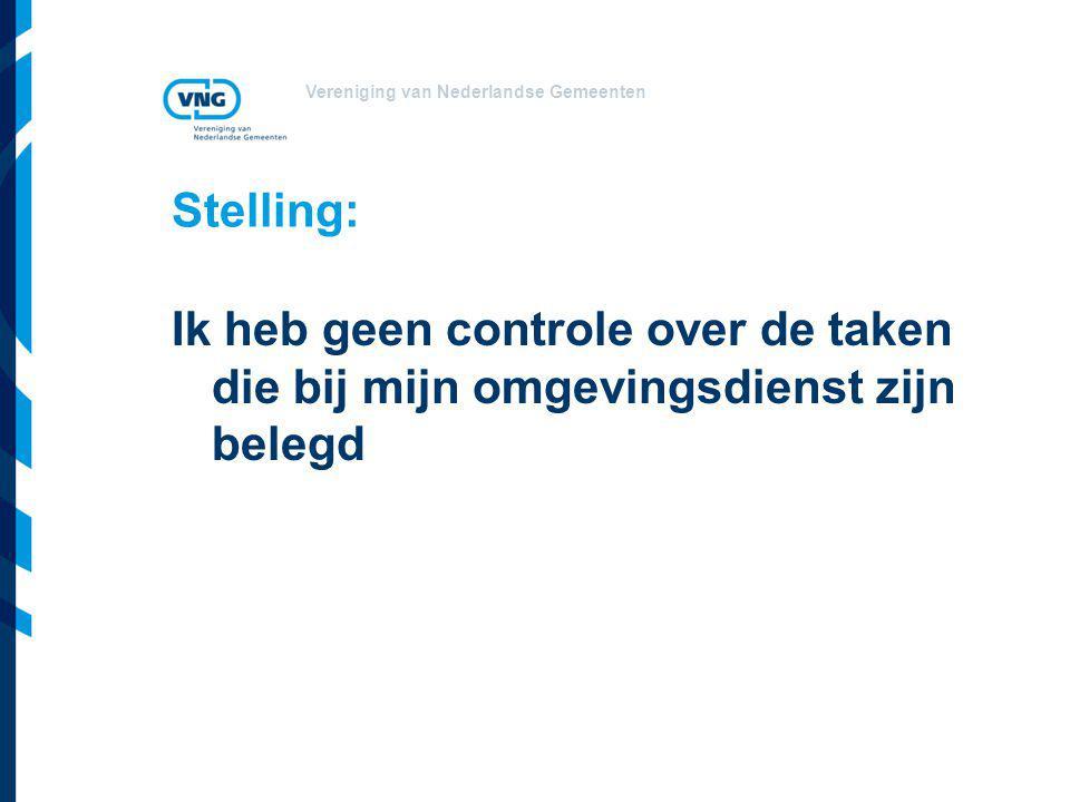 Vereniging van Nederlandse Gemeenten Stelling: Ik heb geen controle over de taken die bij mijn omgevingsdienst zijn belegd