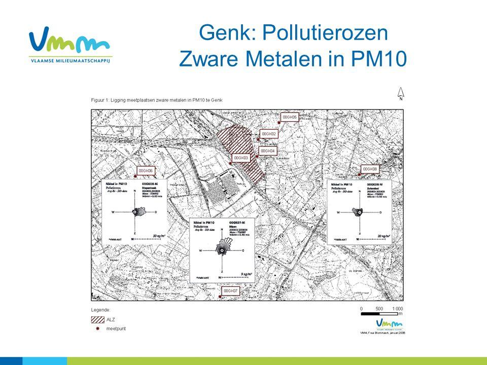13 Genk: Pollutierozen Zware Metalen in PM10