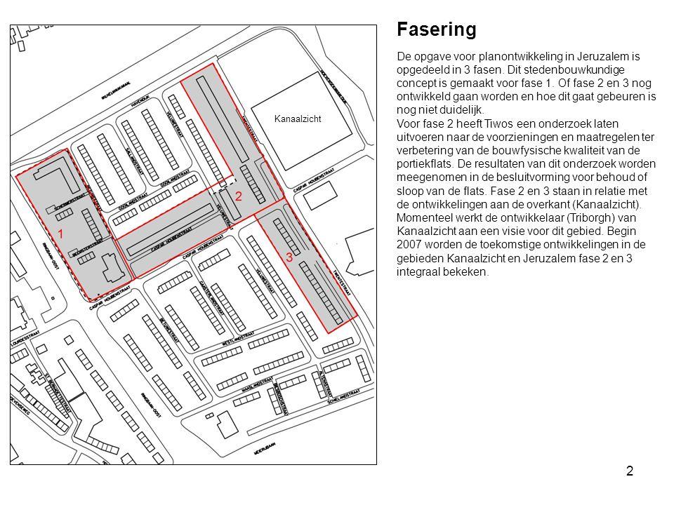 2 Fasering De opgave voor planontwikkeling in Jeruzalem is opgedeeld in 3 fasen. Dit stedenbouwkundige concept is gemaakt voor fase 1. Of fase 2 en 3