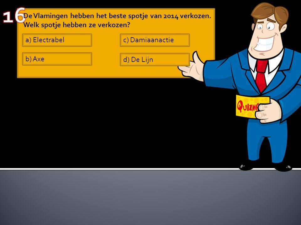 De Vlamingen hebben het beste spotje van 2014 verkozen.