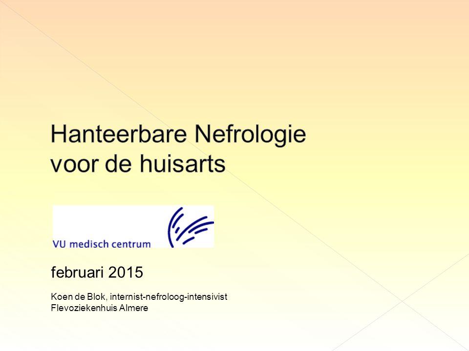 Koen de Blok, internist-nefroloog-intensivist Flevoziekenhuis Almere februari 2015