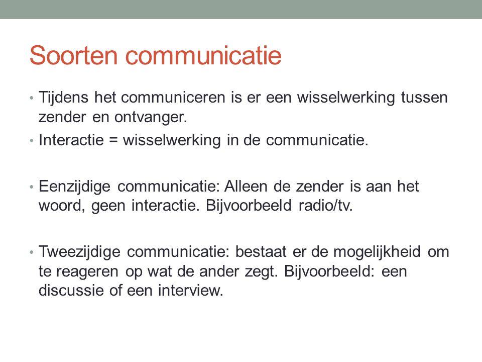 Verbale communicatie.Uitwisseling van woorden. Woorden zijn symbolen met een bepaalde betekenis.
