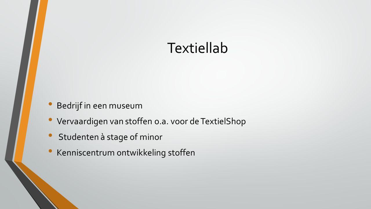 Textiellab Bedrijf in een museum Vervaardigen van stoffen o.a.
