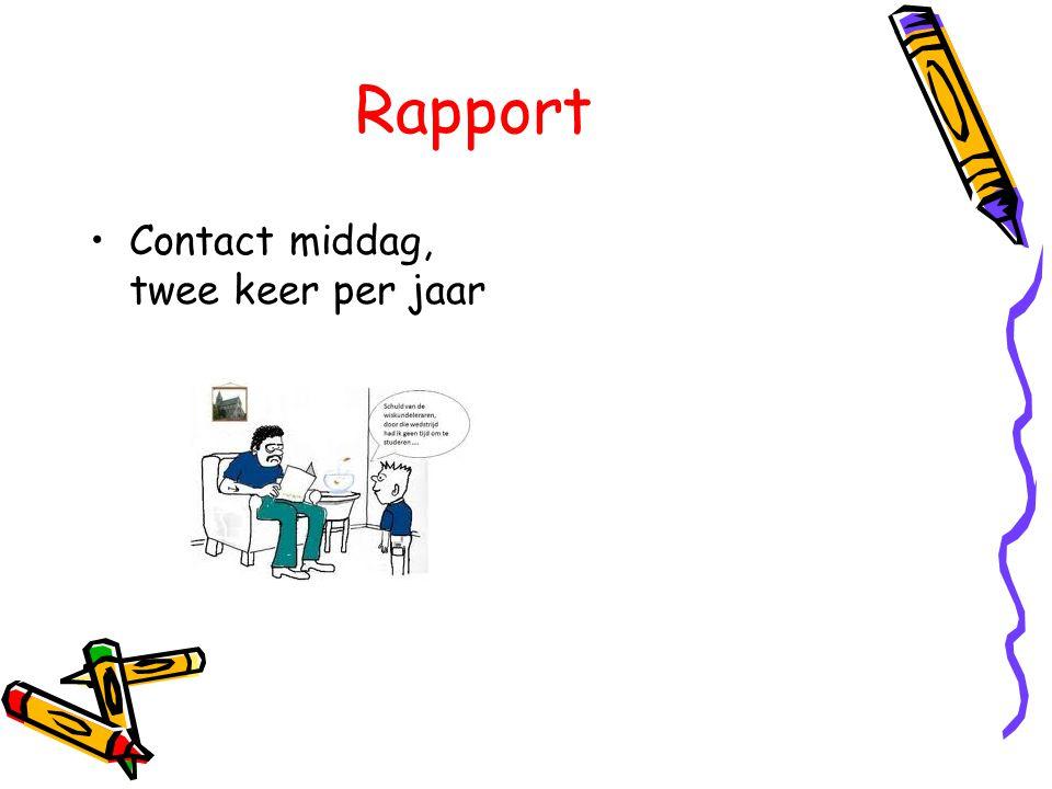 Rapport Contact middag, twee keer per jaar