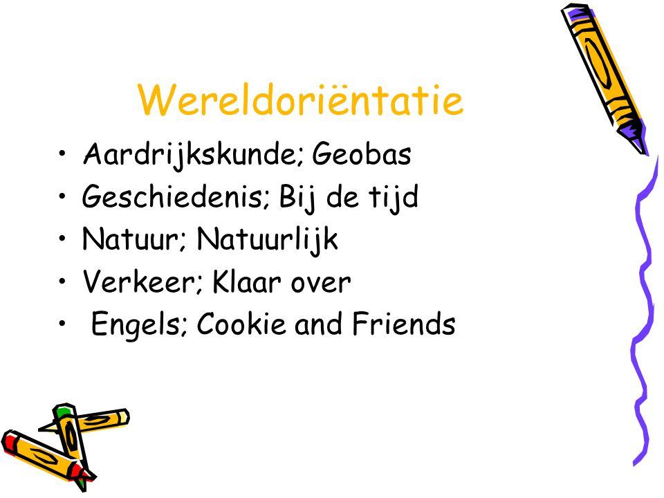 Wereldoriëntatie Aardrijkskunde; Geobas Geschiedenis; Bij de tijd Natuur; Natuurlijk Verkeer; Klaar over Engels; Cookie and Friends