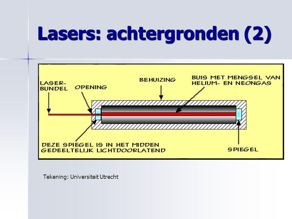 Lasers: achtergronden (2) Tekening: Universiteit Utrecht