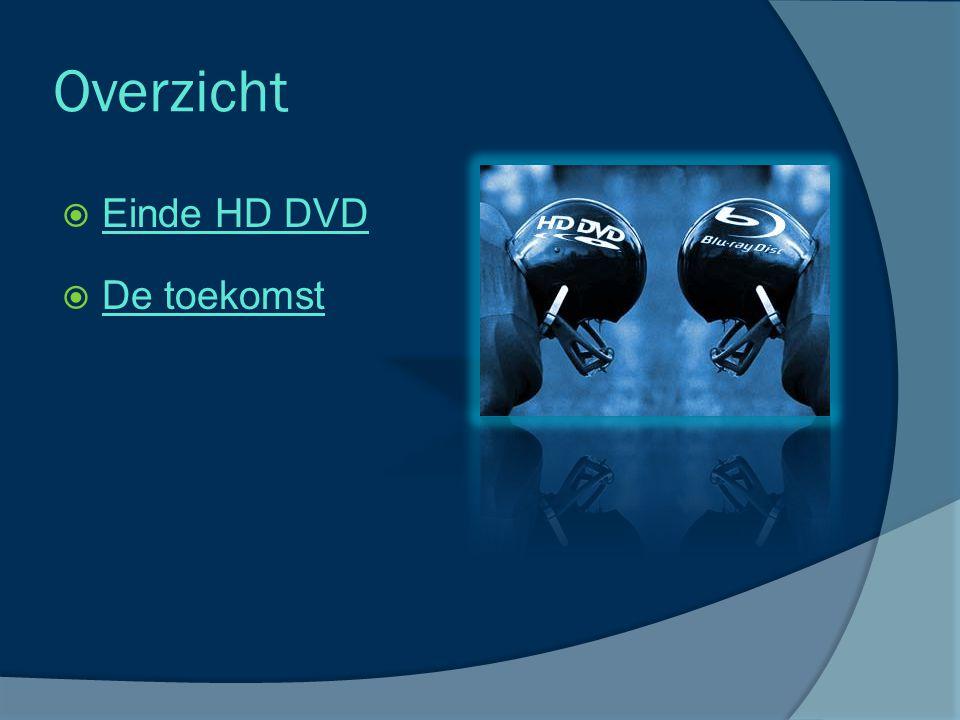 Overzicht  Einde HD DVD Einde HD DVD  De toekomst De toekomst