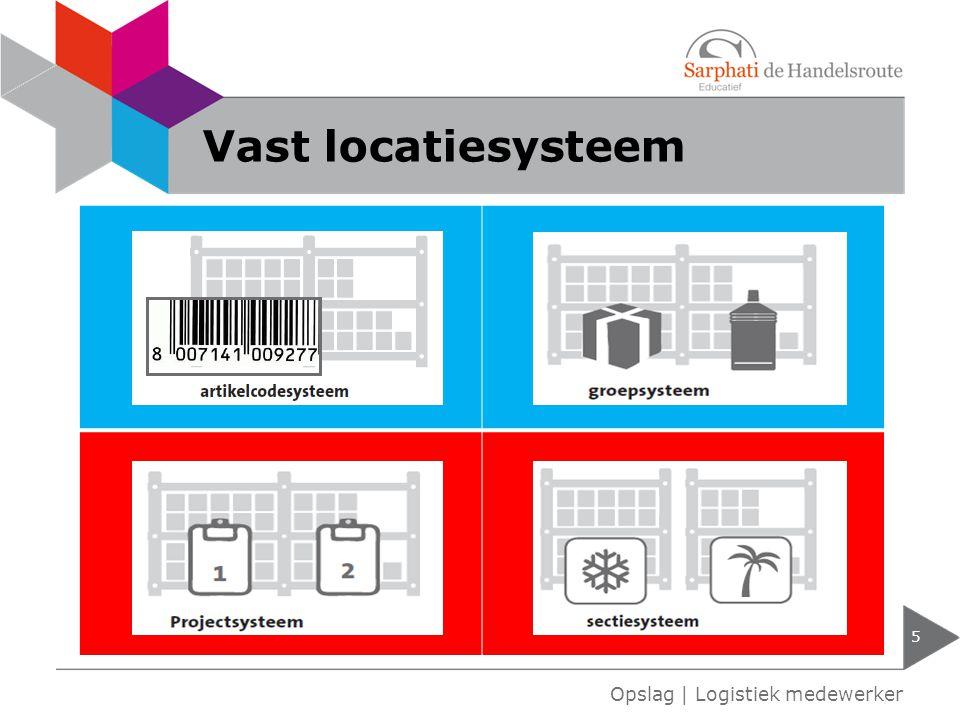 Vast locatiesysteem 5 Opslag | Logistiek medewerker